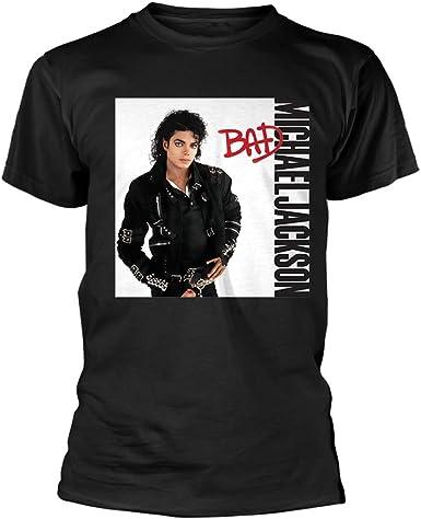Tee Shack Michael Jackson Bad Album Smooth Criminal 1 Oficial Camiseta para Hombre: Amazon.es: Ropa y accesorios