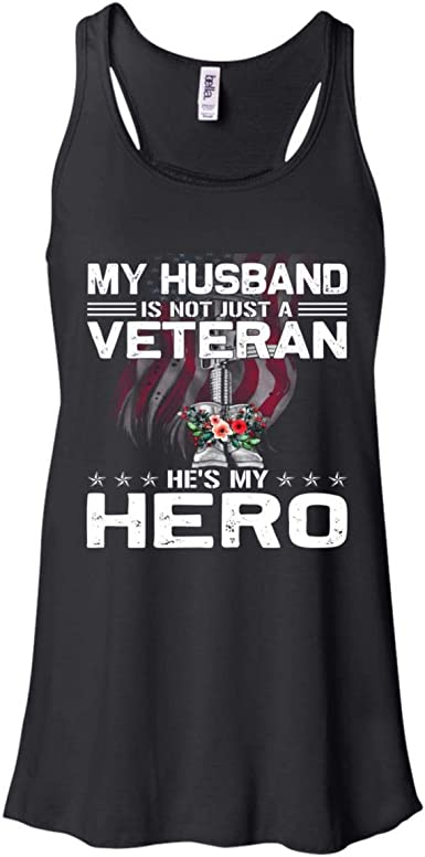 TooLoud Husband of Veteran Dark Muscle Shirt