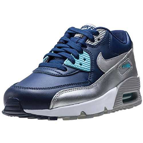 Nike Youth Air Max 90 Leather Trainers Binary Blue/Matte Silver sale with paypal geniue stockist cheap price qkW2P