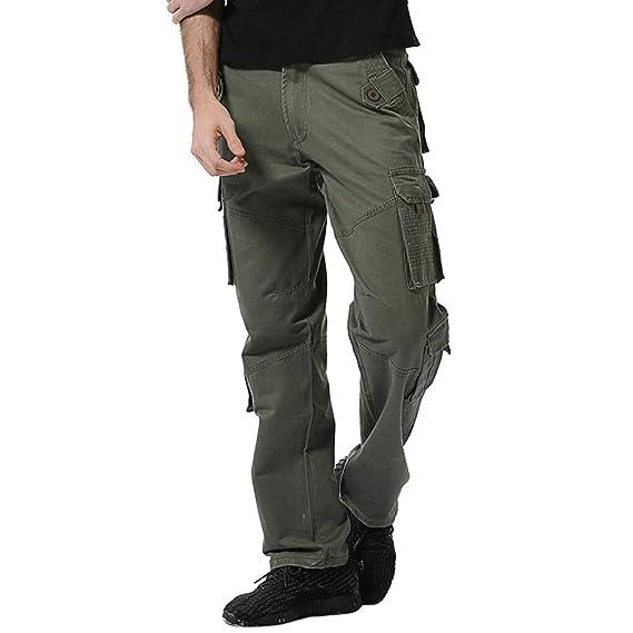 44e5740a3 NPRADLA 2019 Pantalons Hommes à Boutons Outdoors 2019 Casual Nouveau  Printemps éTé Mode Coton Pantalons De Travail à Poches Multiples Pants Long  ...