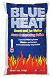 Blue Heat Snow and Ice Melter Rock Salt - 10lbs Bag - Heat Generating Pellets - Concrete and Surface Safe - Industrial Grade - Home and Commercial Use - Blue Tint - Works in -25° F