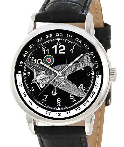 El Hawker Hurricane British RAF WW-II 40 mm conmemorativa de coleccionista Edition Reloj de