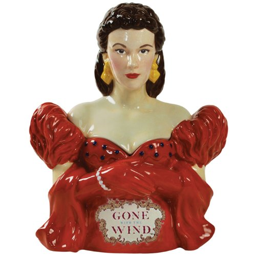 Westland Giftware Gone with the Wind Red Dress Scarlett 10-3/4-Inch Cookie Jar