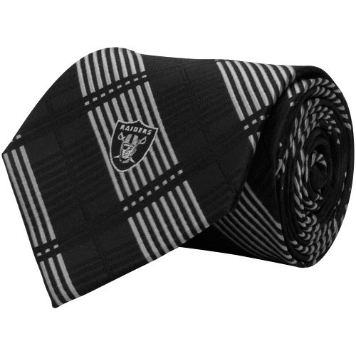 Eagles Wings Oakland Raiders Plaid Tie