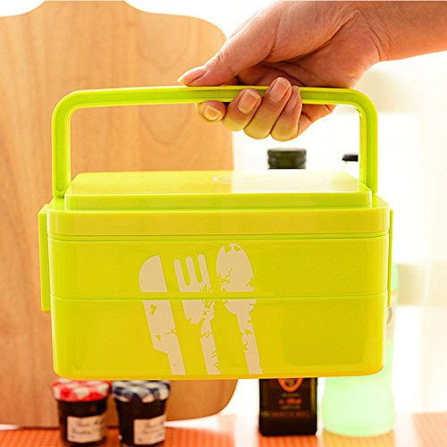 Ieasycan 2 Layers Lunch Box Microwave Bento Box Japanese Style Lunch Container Lunchbox Bento Food Container Home Accessories (Kokeshi Bento Container compare prices)