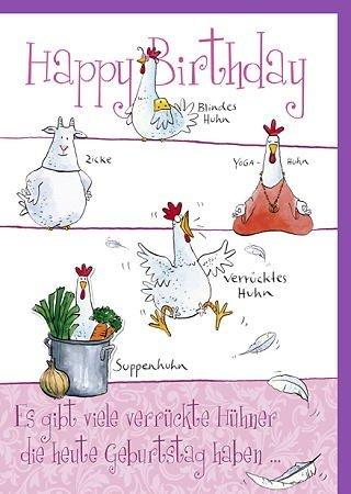 Witzige A4 Maxi Geburtstagskarte Verrucktes Huhn Amazon De