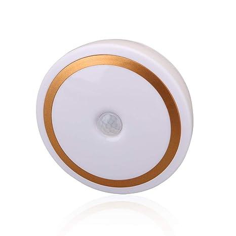 taottao 6 LED Wireless PIR Auto Motion Sensor infrarrojos luz nocturna Armario Escaleras lámpara, dorado