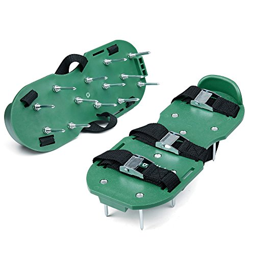 Finrezio Lawn Aerator Shoes,Spikes Lawn Aerator Sandals for Aerating
