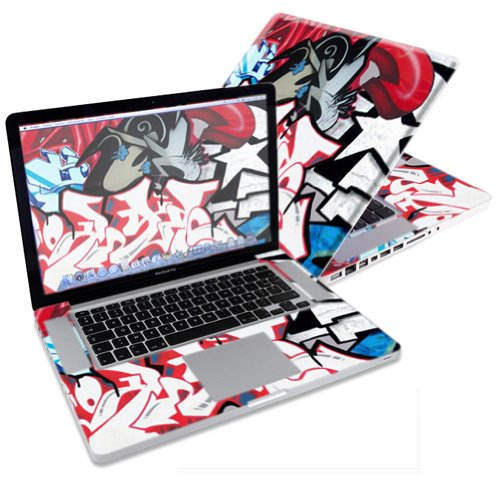 """Mightyskins Protective Skin Decal Cover for Apple MacBook Pro 15"""" with 15.4 inch screen wrap sticker skins Graffiti Mash Up"""