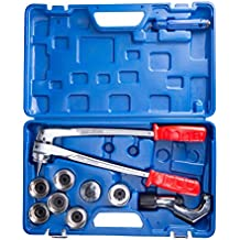 """CO-Z 7 Level Professional Aluminum Copper Tube Expander Tool Full Set with Tube Cutter & Deburring Tool, 3/8"""" to 1-1/8"""""""