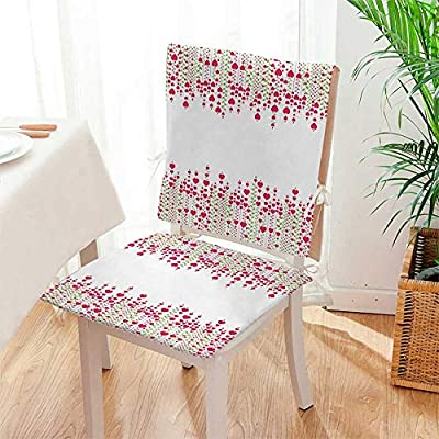 Mikihome Chair Cushion 2 Piece Set Heart Bouquet Plants Leaves Creativity Valentines Flowers Decorating Stylish Indoor/OutdoorSoft Thicken Mat:W17 x H17/Backrest:W17 x H36
