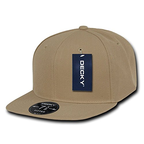 DECKY Retro Fitted Cap, Khaki, 7 1/8 (Bill Fashion)