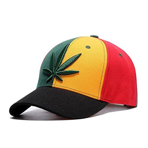 Multicolored-Marijuana-Leafs-Snapback-Hat-Cannabis-Embroidered-Unisex-Adjustable-Baseball-Cap