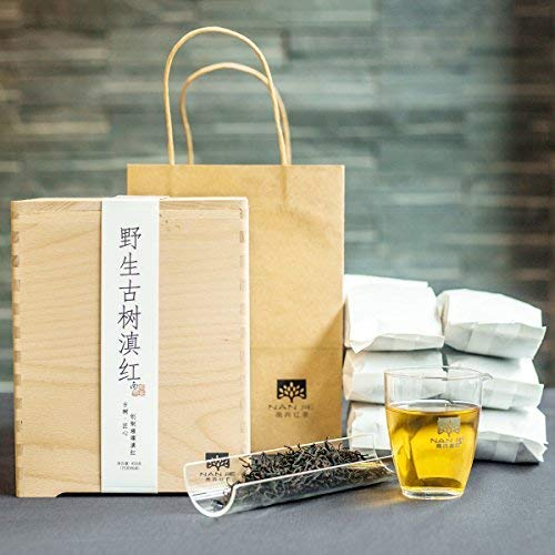 Nanjie black tea, 2018 [wild ancient tree dianhong] gongfu black tea, dian black tea [wild ancient tree black tea] mellow taste, full and non-astringent, long-lasting aroma, 15.8ounces,giving gift box by NanJie (Image #5)