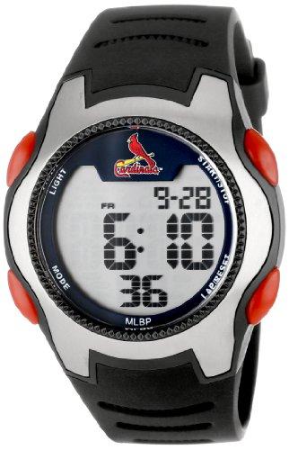 Game Time Men's Quartz Metal and Polyurethane Casual Watch, Color:Black (Model: MLB-TRC-STL)