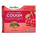 Herbion Naturals Sugar-Free Cough Lozenges with Natural Cherry Flavour, 18 Lozenges - Relieves Cough and Nasal Congestion; Soothes Sore Throat; For Adults and Children 12 years and above