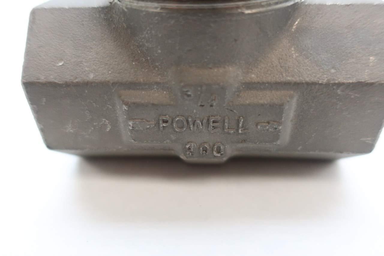 POWELL 1861 Manual Stainless Threaded Globe Valve 200 3//4IN NPT D628665