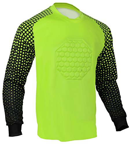 Soccer Goalie Shirt (Lime Green, Adult Small)