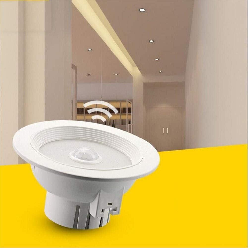 HYX Kit de reequipamiento de iluminación de Downlight LED Regulable 5W Blanco 3000K para Carcasas empotradas, embellecedor de Bronce aceitado