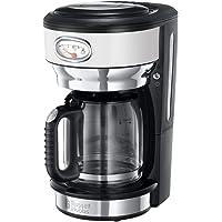 Russell Hobbs kaffemaskin retro vit, upp till 10 koppar, 1,25l glaskanna, bryggnings- och uppvärmningsindikator i…