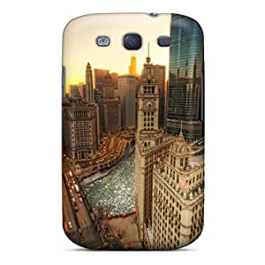 FqM6761BOAm R. Steven Chicago River In Winter Hdr Feeling Galaxy S3 On Your Style Birthday Gift Cover Case