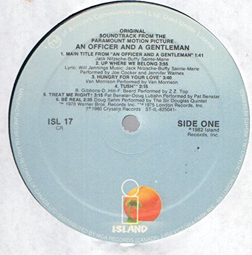 Various: An Officer And A Gentleman Soundtrack LP VG+/NM Canada Island ISL 17
