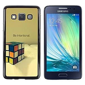 Be Good Phone Accessory // Dura Cáscara cubierta Protectora Caso Carcasa Funda de Protección para Samsung Galaxy A3 SM-A300 // Intentional Cube Game Mathematics Puzzle