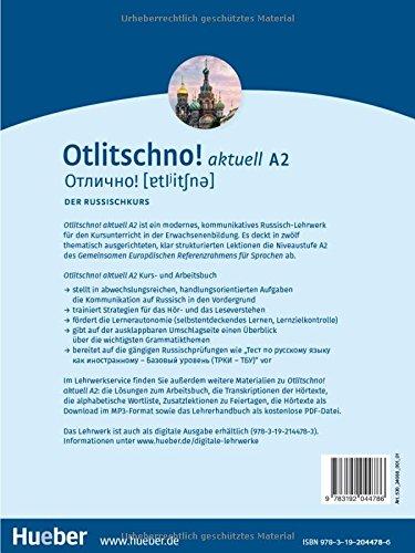otlitschno aktuell a2 der russischkurs kurs und arbeitsbuch 2