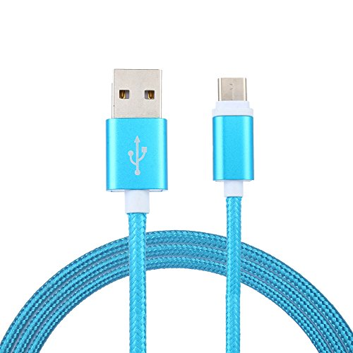 Price comparison product image Charging Cable,for Android,Sunfei Special Nylon Braided USB-C USB 3.1 Type C Data Charge Charging Cable for Android (2M, Blue)
