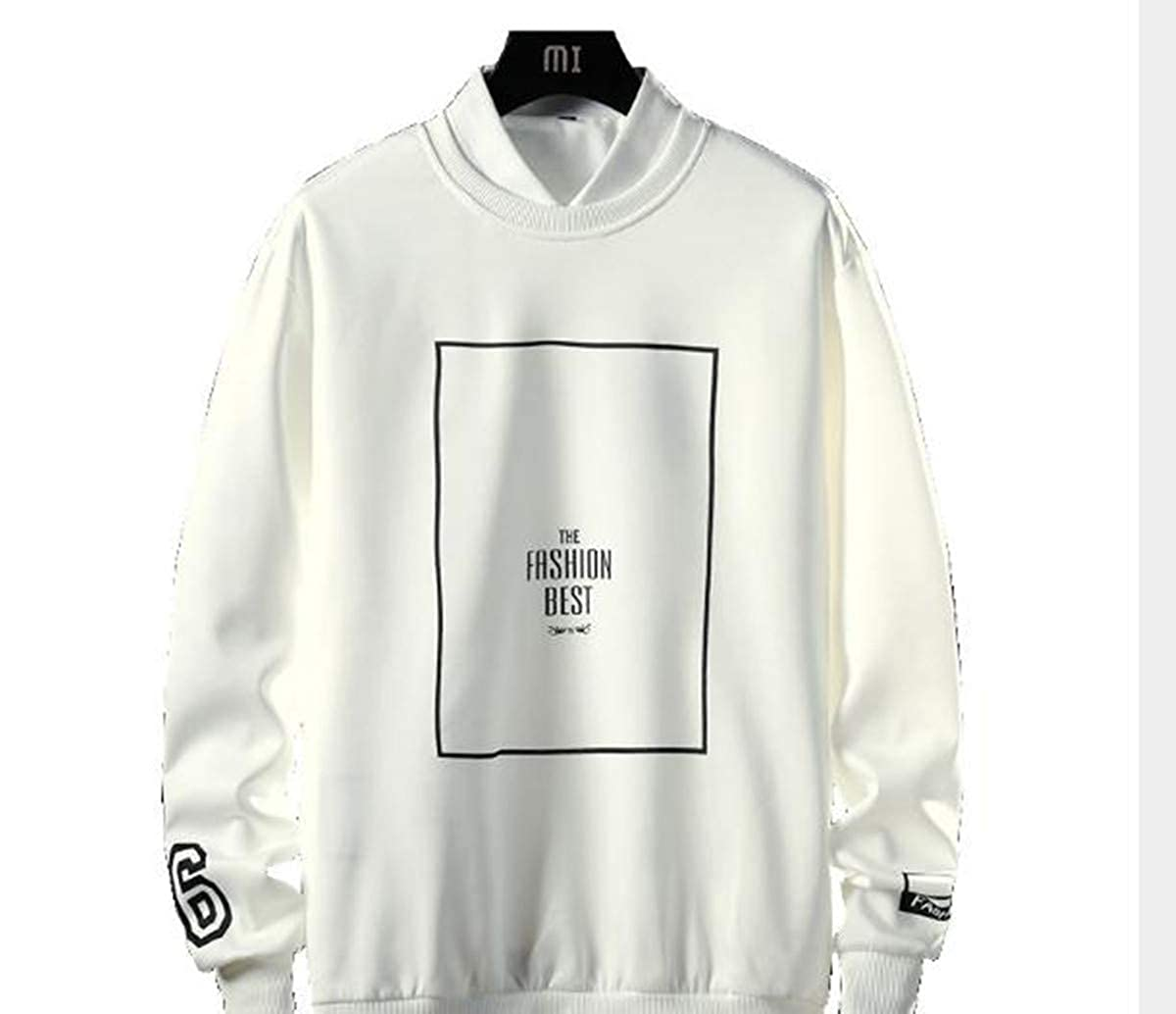 asdhdkk The New Spring//Autumn Mens Jacket is a Korean Version of The bF Trend Long Sleeve T-Shirt Hip hop boy Hoodie Jacket