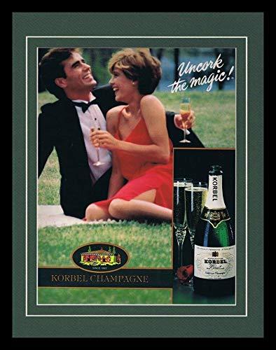 1986 Korbel Champagne Framed 11x14 ORIGINAL Vintage Advertisement