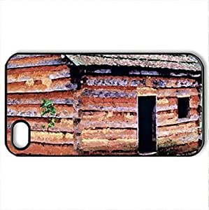 Abraham's home - Case Cover for iPhone 4 and 4s (Houses Series, Watercolor style, Black)