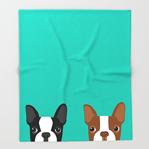 Society6 Boston Terriers Throw Blankets 51