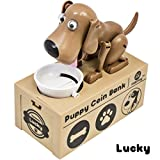 Matney Dog Piggy Bank - Robotic Coin Toy Money Box – Coin Bank Collection - Great Gift for Any Child - Collect Them All For Complete Fun- (Lucky)