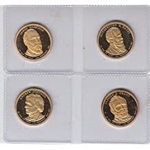 2011 S Presidential Dollars -PROOF - (4) Coins - Johnson, Grant, Hayes, Garfield Choice Uncirculated Proof