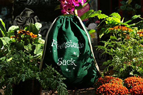 Turnbeutel bedruckt mit Spruch Feenstaub Sack - Rucksack - Sportbeutel - Gymsack - Gymbag von 3 Elfen - Hipster Beutel aus Baumwolle - rosa rot pGnFJcAbbX