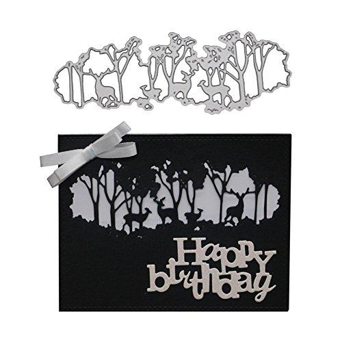 2019 Newest Deer Criss Cross Metal Die Cutting Dies Handmade Stencils Template Embossing for Card Scrapbooking Craft Card Making Paper Decor