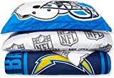 NFL Los Angeles Chargers Soft & Cozy 7-Piece Full Size Bed in a Bag Set