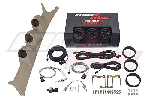 Black/Green MaxTow 1999-2007 Tan Ford Super Duty PowerStroke Gauge Package Black Face Boost, EGT, Trans (Custom Gauge Package)