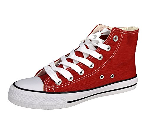 Peach Couture High Top Casual Sneakers Shoes Red 10 B(M) US by Peach Couture (Image #3)