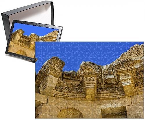 Photo Jigsaw Puzzle Of Decorations Nymphaeum Public Fountain Ancient Roman City Jerash Jordan