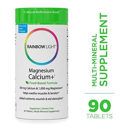 Bone Response 90 Tablets - Rainbow Light - Magnesium Calcium + - Vitamin D Mineral Supplement; Vegetarian, Gluten Free; Supports Digestion, Helps Soothe Muscle Aches in Athletes - 500mg Calcium, 400 IU Vitamin D3-90 Tablets