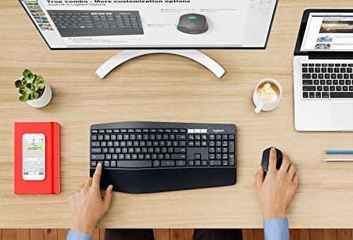 Logitech MK850 Combo Clavier et Souris sans Fil Multidispositifs, 2,4 GHz/Bluetooth, Structure Courbée, Souris sans FIl, 12 Boutons Programables, Batterie Longue Durée 3 Ans, PC/Mac, AZERTY Français