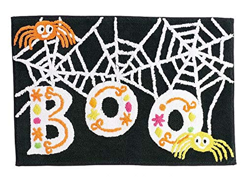 (Midnight Market Halloween Boo Spider Throw Bath Rug 20x30 Skid Resistant)