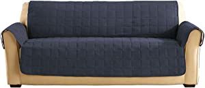 SureFit Ultimate Waterproof Quilted Throw - Sofa Slipcover - Storm Blue