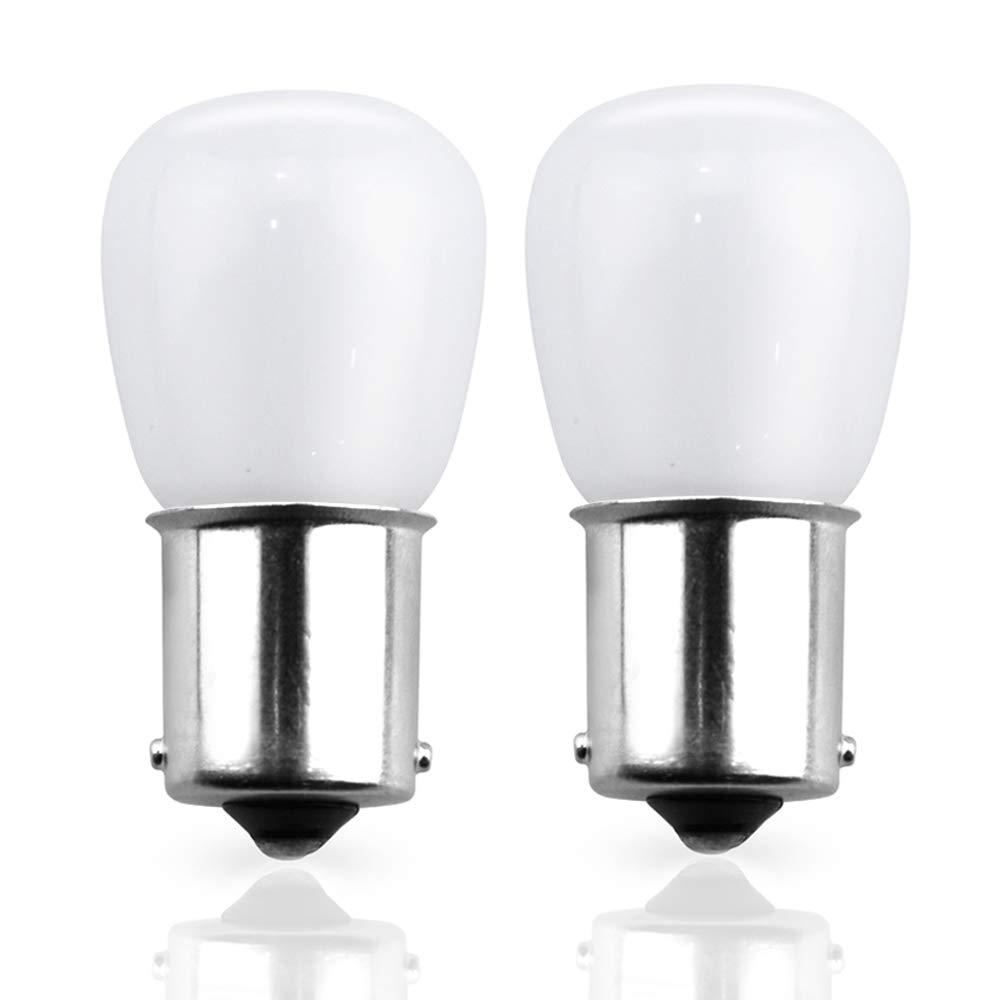 Lustaled LED 1156/1141 LED Vanity Bulbs, 2W 12 Volt RV Light Bulbs BA15S Bayonet Base for Motorhome 5th Wheel Marine Boat Tail RV Camper Lighting (Daylight 6000K, 2 -Pack) Kalya LED Co. Ltd