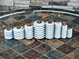 Meister Intl 70125 gray porcelain standoff insulator, 5kv, 60kv BIL, 3
