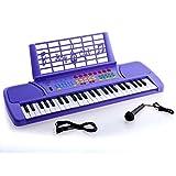 Ellegance KB49PL Children 49 Keys Electronic Piano Music Keyboard, Purple