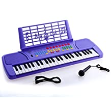 Ellegance KB49PL Children 49 Keys Electronic Piano Music Keyboard, Purple