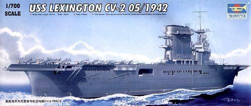 trumpeter-1-700-uss-lexington-cv2-aircraft-carrier-may-1942-model-kit